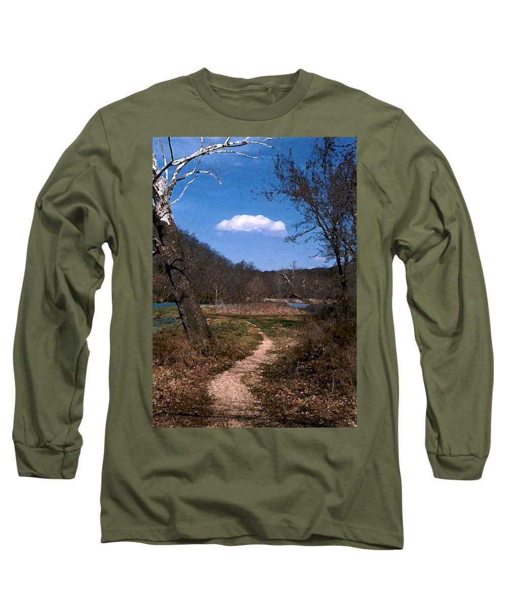 Landscape Long Sleeve T-Shirt featuring the photograph Cloud Destination by Steve Karol