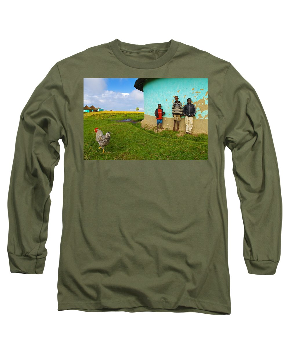 Skip Long Sleeve T-Shirt featuring the photograph Cocky by Skip Hunt