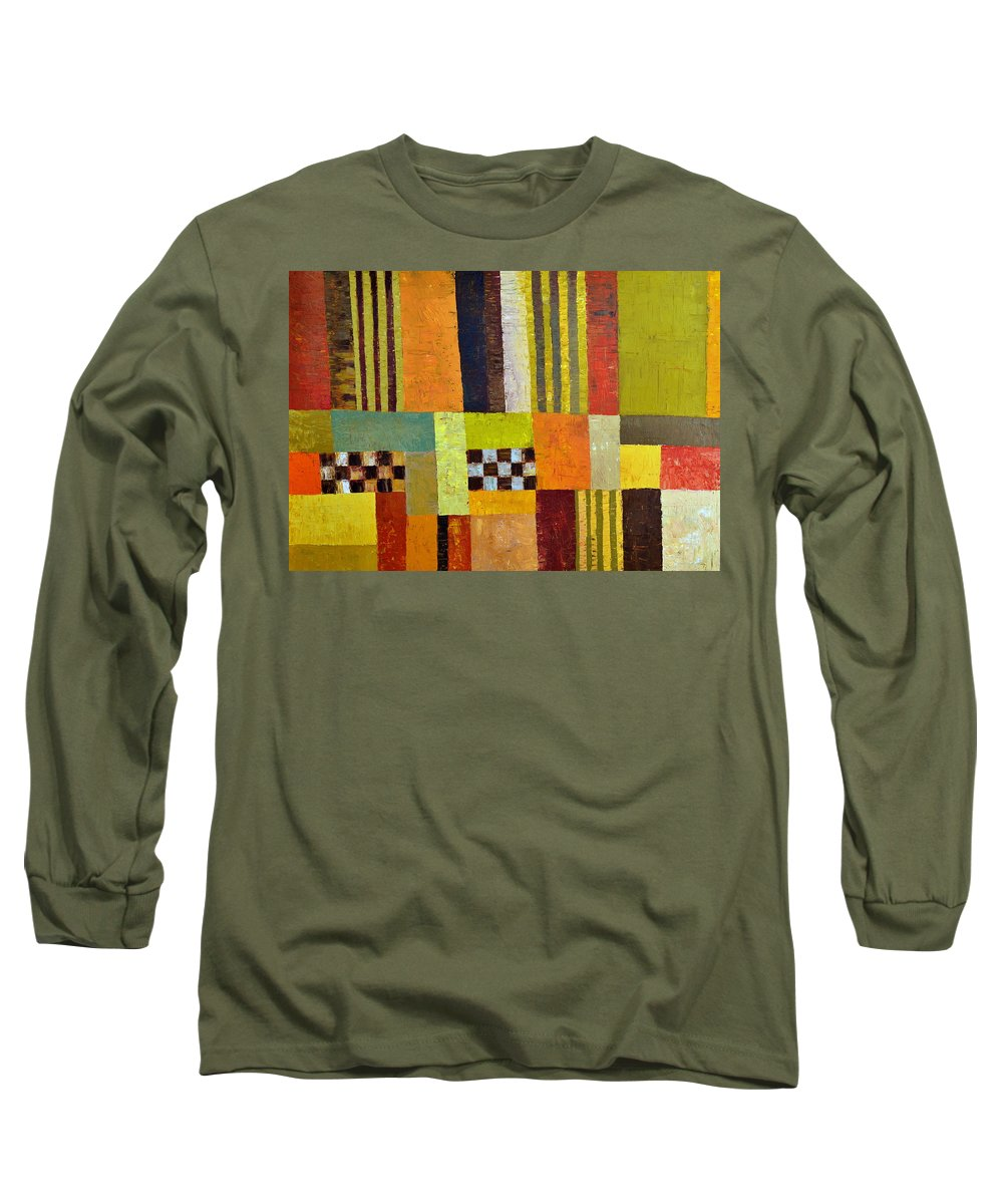 Colorful Long Sleeve T-Shirt featuring the painting Color And Pattern Abstract by Michelle Calkins