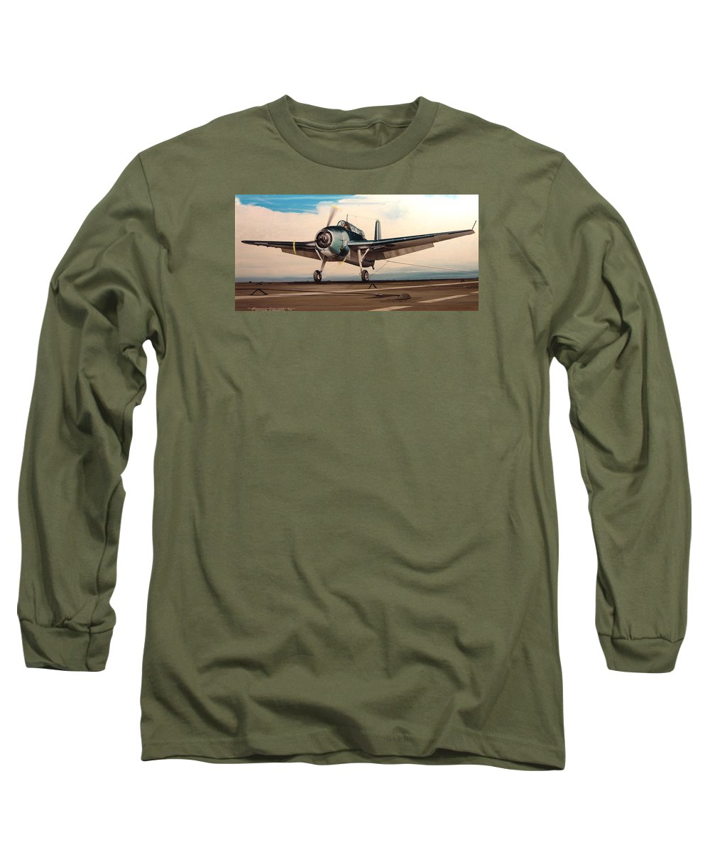 Painting Long Sleeve T-Shirt featuring the painting Coming Aboard by Marc Stewart