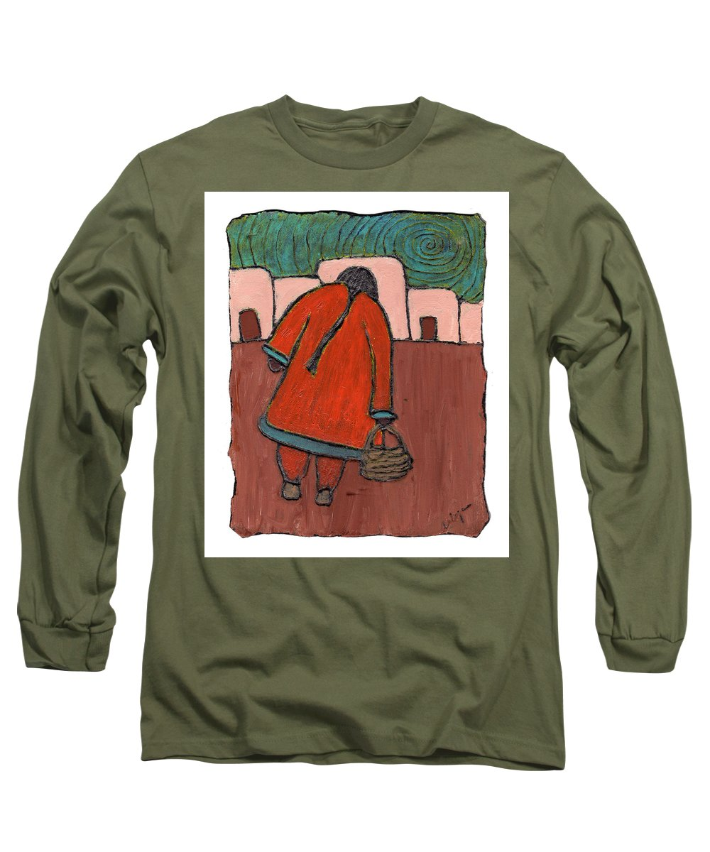 Southwest Long Sleeve T-Shirt featuring the painting Coming Home by Wayne Potrafka