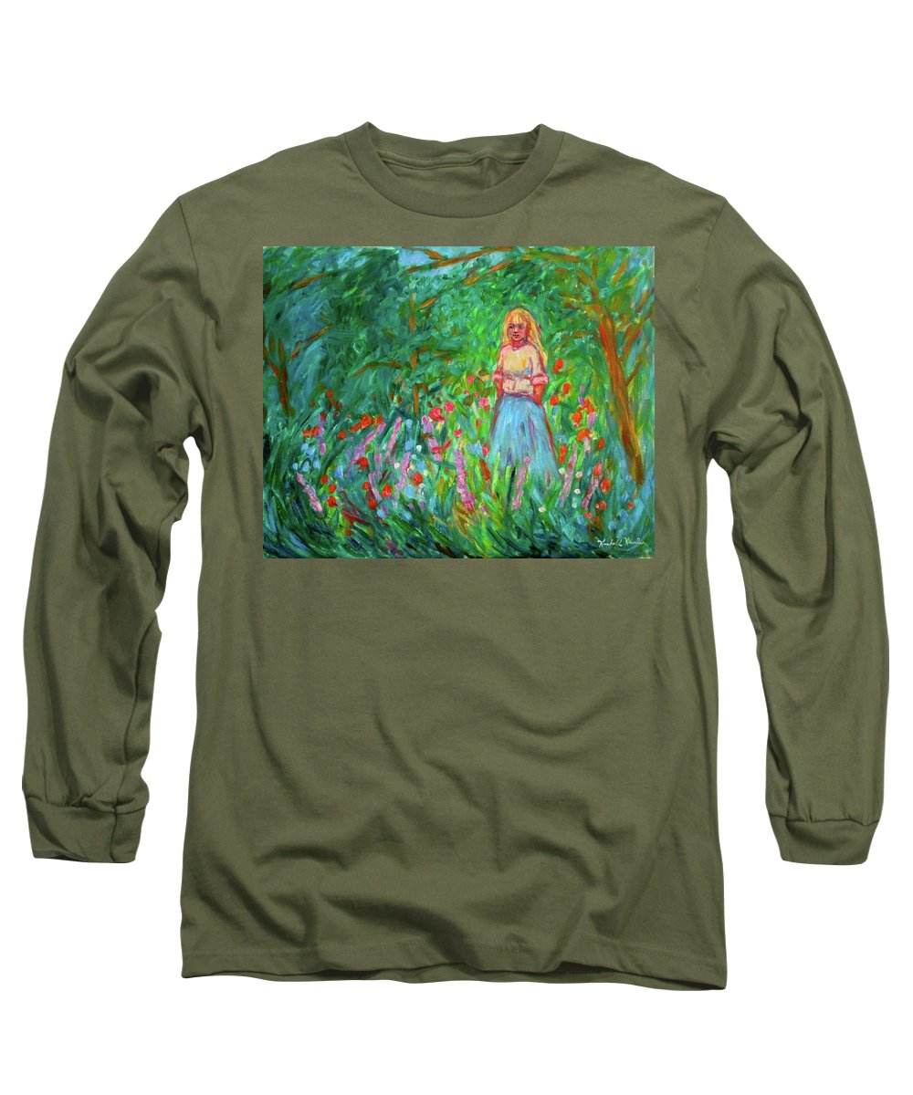 Landscape Long Sleeve T-Shirt featuring the painting Contemplation by Kendall Kessler
