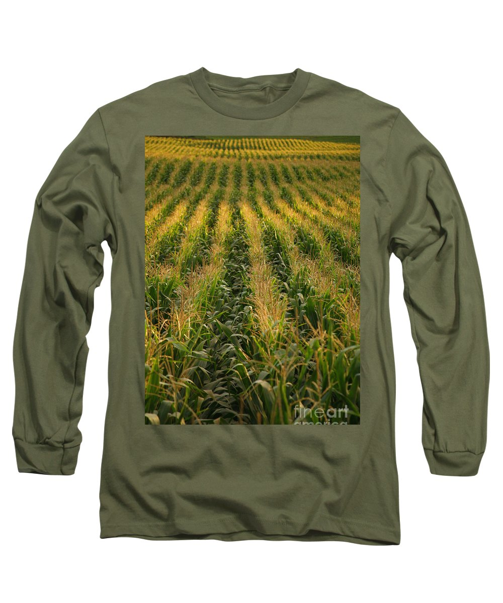 Acores Long Sleeve T-Shirt featuring the photograph Corn Field by Gaspar Avila