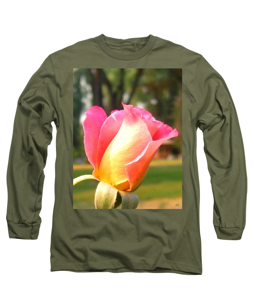 Rose Long Sleeve T-Shirt featuring the photograph Country Rose by Will Borden