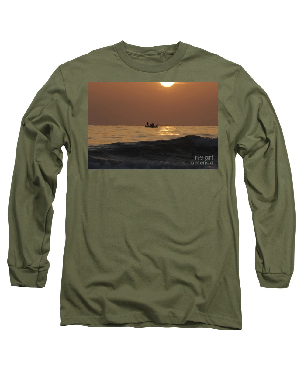 Sunset Long Sleeve T-Shirt featuring the photograph Couples At Sunset by David Lee Thompson