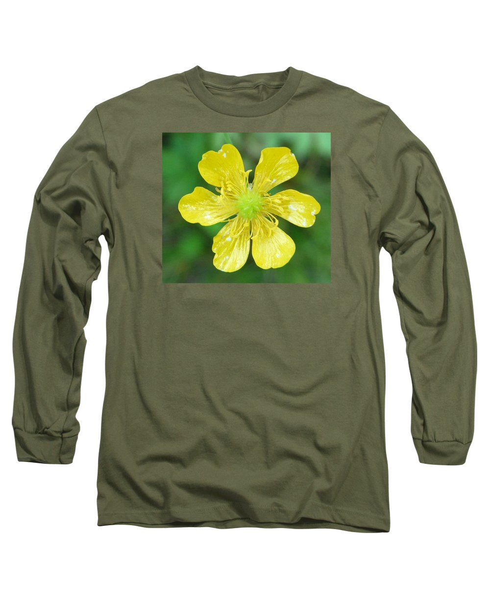 Flower Long Sleeve T-Shirt featuring the photograph Creeping Buttercup by Valerie Ornstein