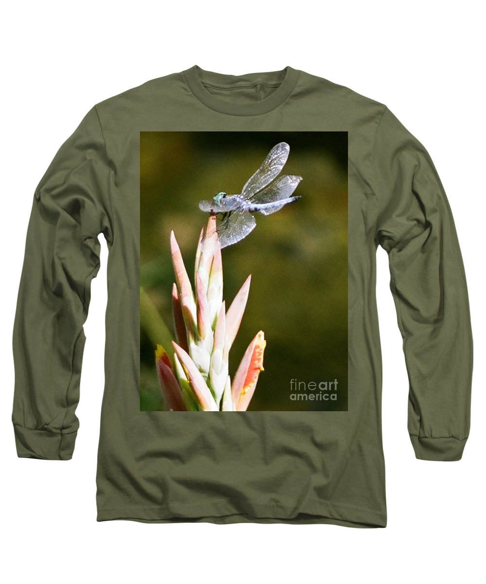 Dragonfly Long Sleeve T-Shirt featuring the photograph Damselfly by Dean Triolo