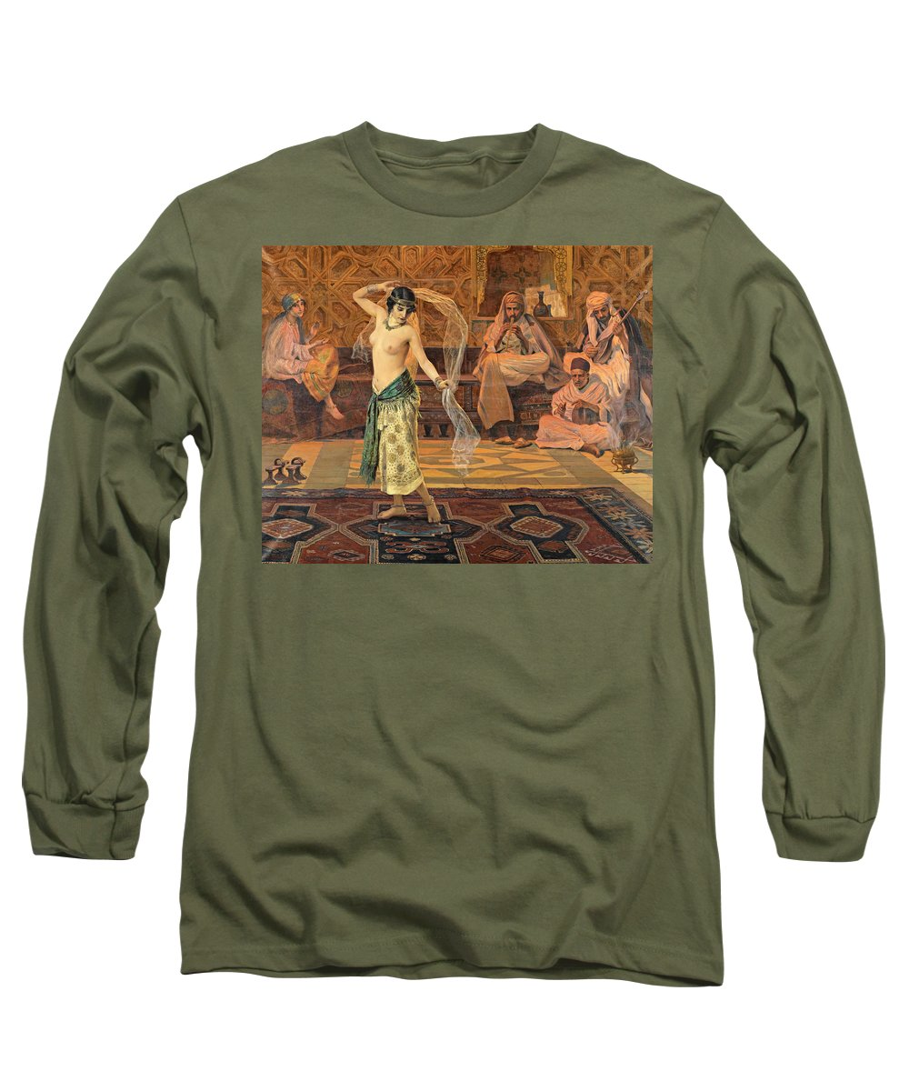 Otto Pilny Long Sleeve T-Shirt featuring the painting Dance Of The Seven Veils by Otto Pilny
