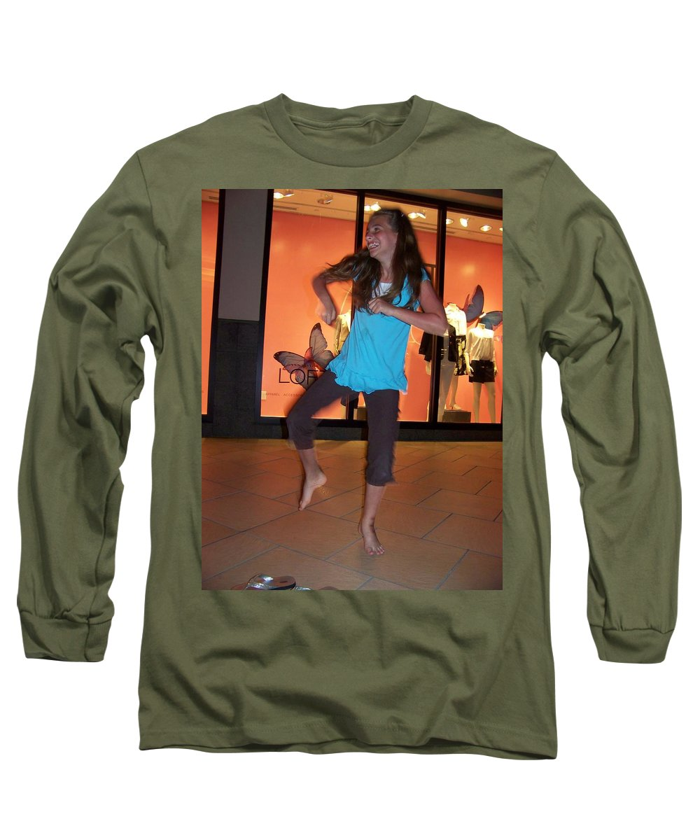 Girl Long Sleeve T-Shirt featuring the photograph Dancing Young Girl by Laurie Paci