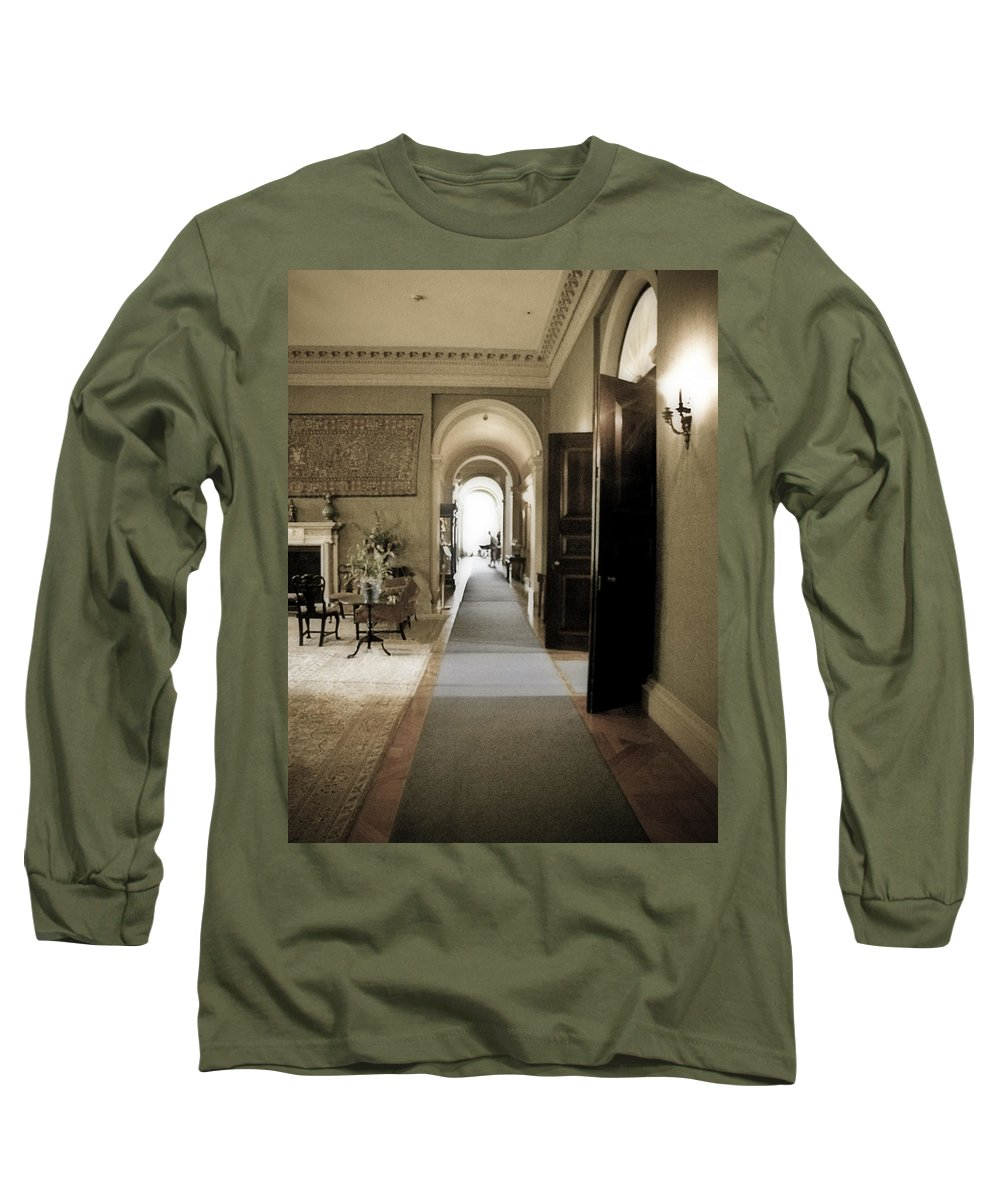 Mansions Long Sleeve T-Shirt featuring the photograph Dinner Is Serve4d by Karen W Meyer