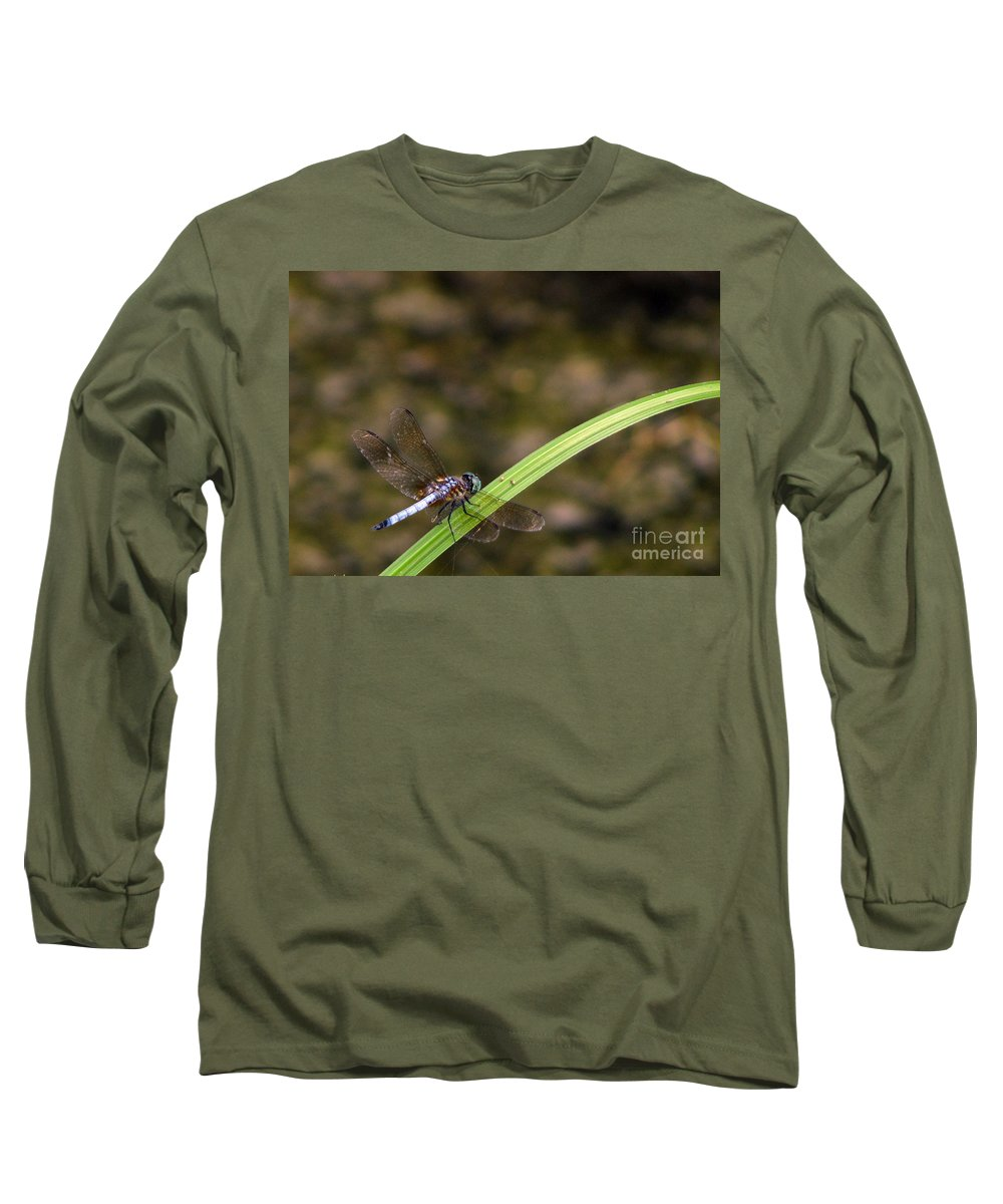 Dragonfly Long Sleeve T-Shirt featuring the photograph Dragonfly by Amanda Barcon