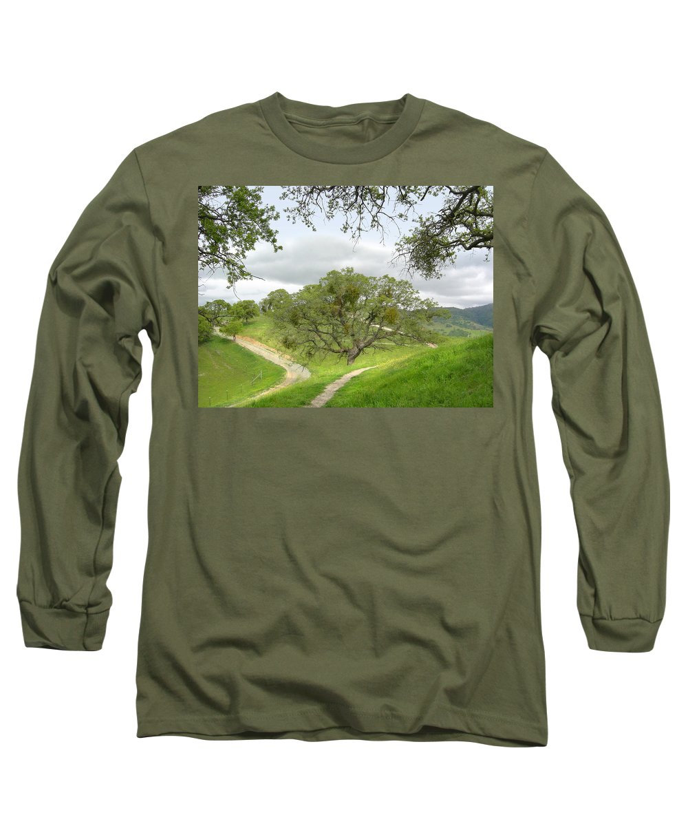 Landscape Long Sleeve T-Shirt featuring the photograph East Ridge Trail - Spring by Karen W Meyer