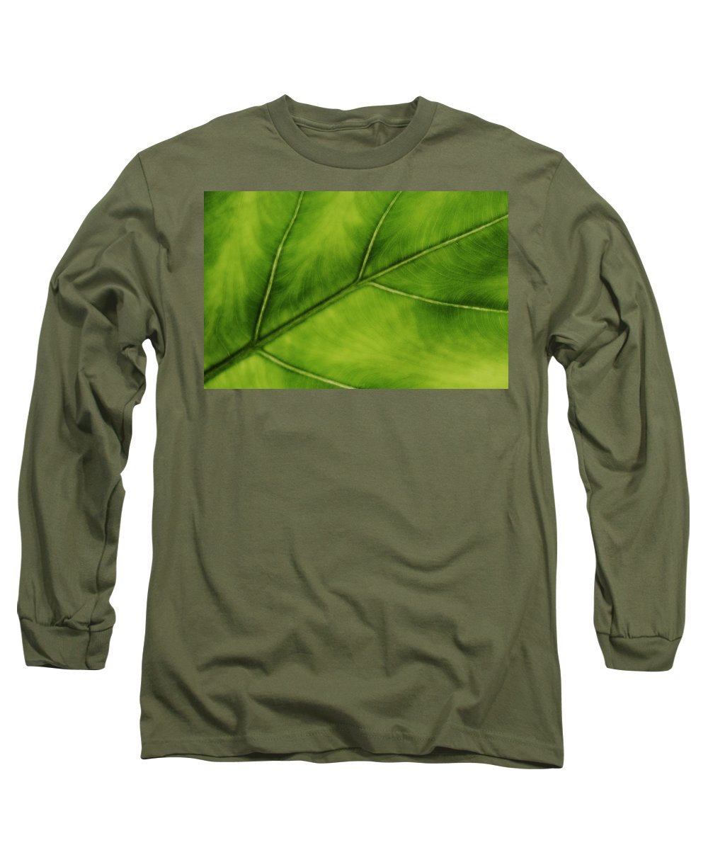 Leaf Long Sleeve T-Shirt featuring the photograph Elephant Ear by Marilyn Hunt