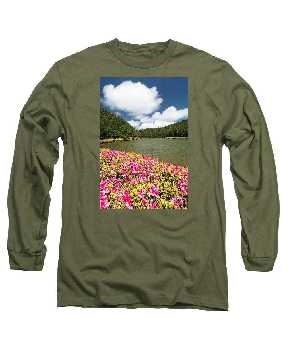 Portugal Long Sleeve T-Shirt featuring the photograph Empadadas Lakes II by Gaspar Avila