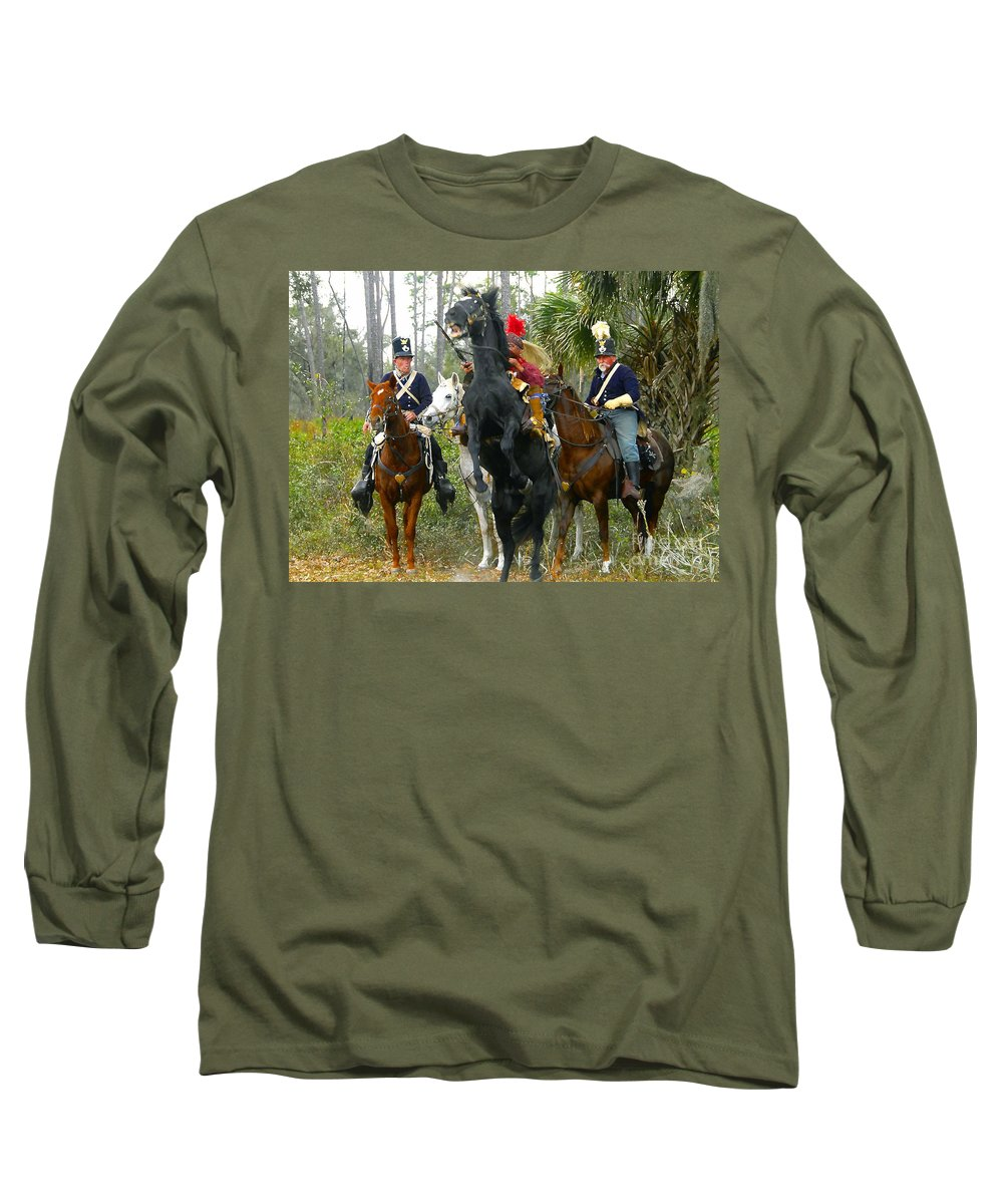 Seminole Indians Long Sleeve T-Shirt featuring the photograph Escape Of Billy Bowlegs by David Lee Thompson