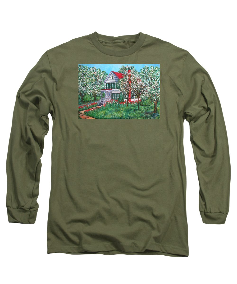 Home Long Sleeve T-Shirt featuring the painting Esther's Home by Kendall Kessler