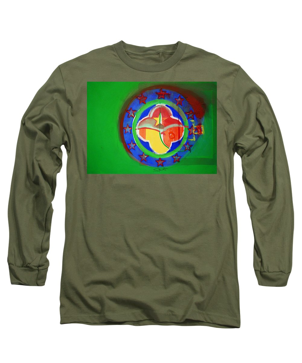 Symbol Long Sleeve T-Shirt featuring the painting Euromarine by Charles Stuart