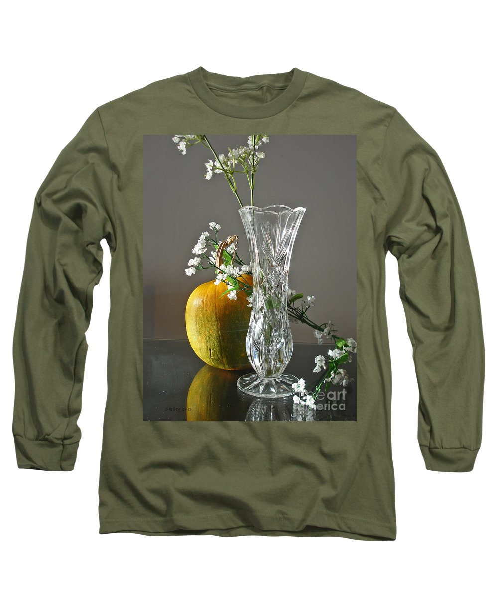 Still Life Long Sleeve T-Shirt featuring the photograph Everlasting Harvest by Shelley Jones