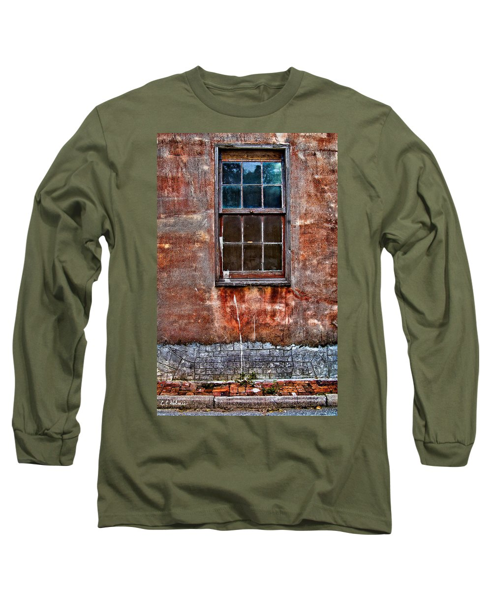 Window Long Sleeve T-Shirt featuring the photograph Faded Over Time by Christopher Holmes