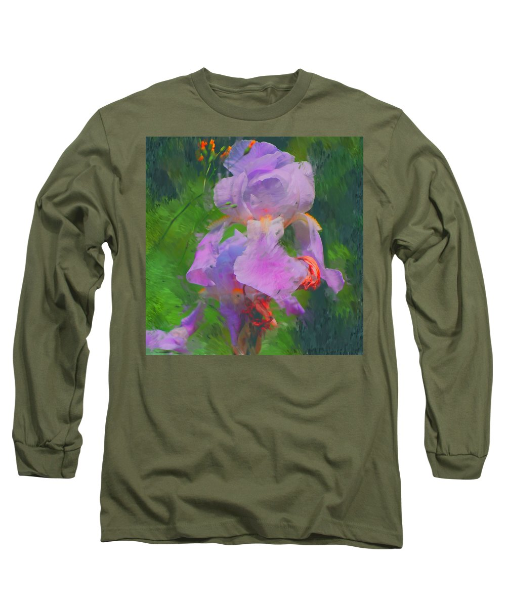 Iris Long Sleeve T-Shirt featuring the painting Fading Glory by David Lane