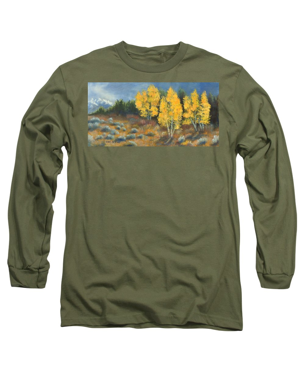 Landscape Long Sleeve T-Shirt featuring the painting Fall Delight by Jerry McElroy