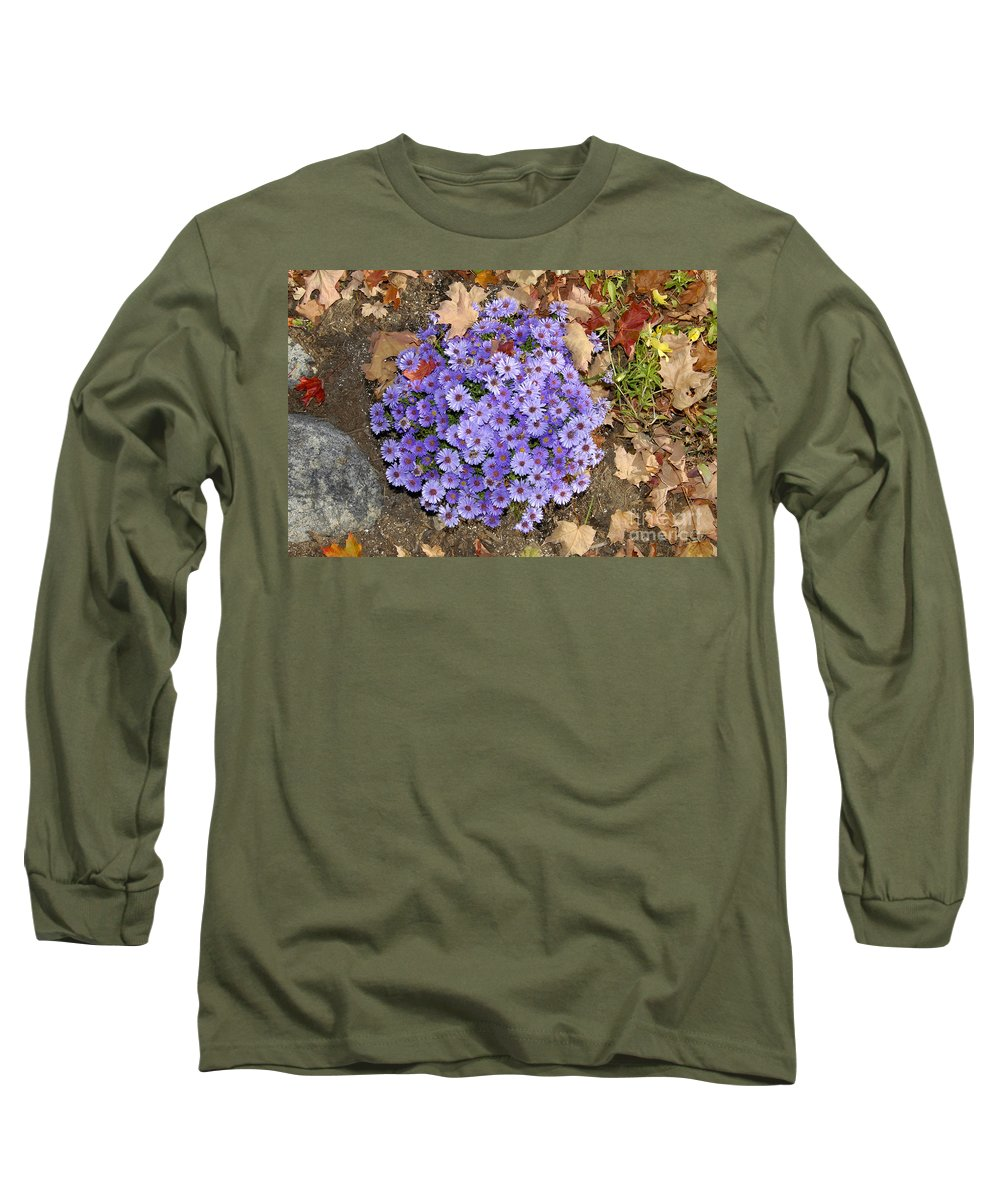 Fall Long Sleeve T-Shirt featuring the photograph Fall Flowers by David Lee Thompson