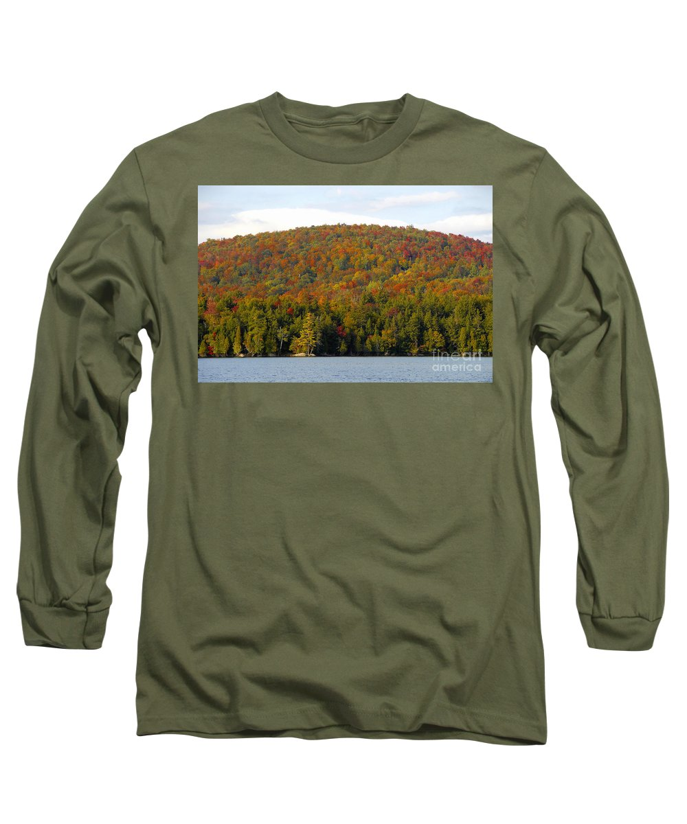Fall Long Sleeve T-Shirt featuring the photograph Fall Island by David Lee Thompson