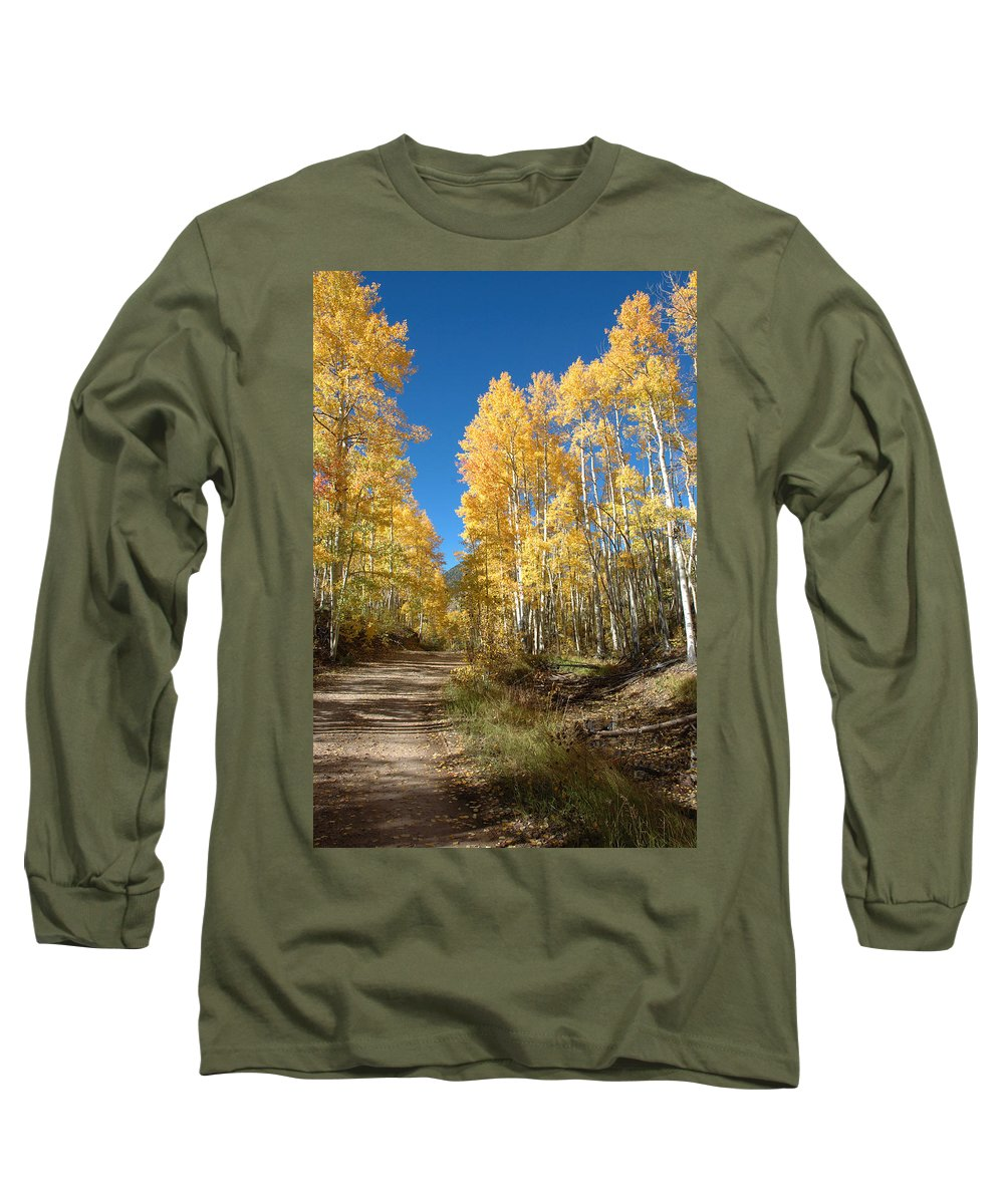 Landscape Long Sleeve T-Shirt featuring the photograph Fall Road by Jerry McElroy