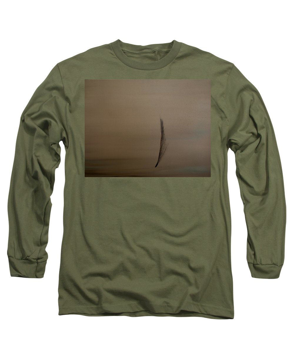 Feather Long Sleeve T-Shirt featuring the painting Feather by Jack Diamond