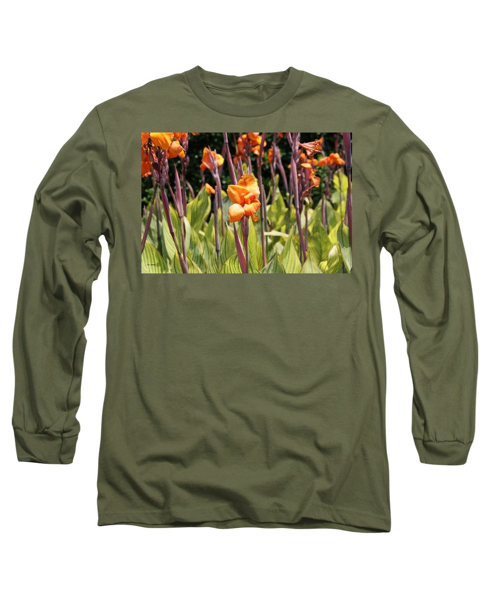 Floral Long Sleeve T-Shirt featuring the photograph Field For Iris by Shelley Jones