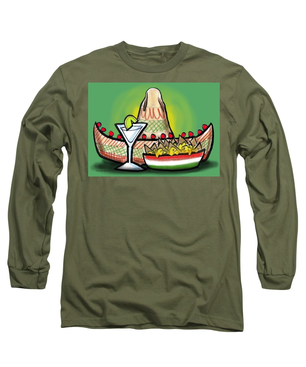 Fiesta Long Sleeve T-Shirt featuring the greeting card Fiesta by Kevin Middleton