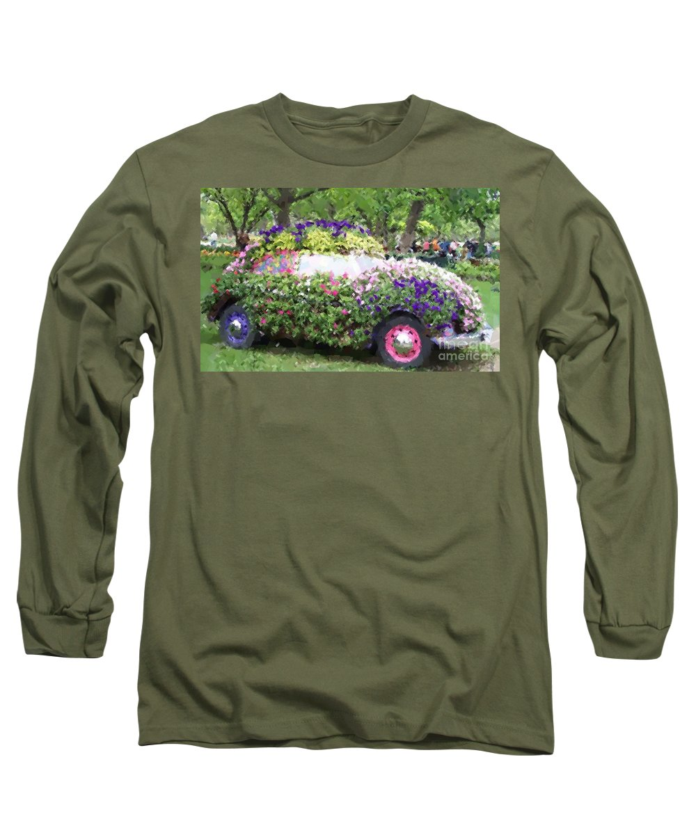 Cars Long Sleeve T-Shirt featuring the photograph Flower Power by Debbi Granruth