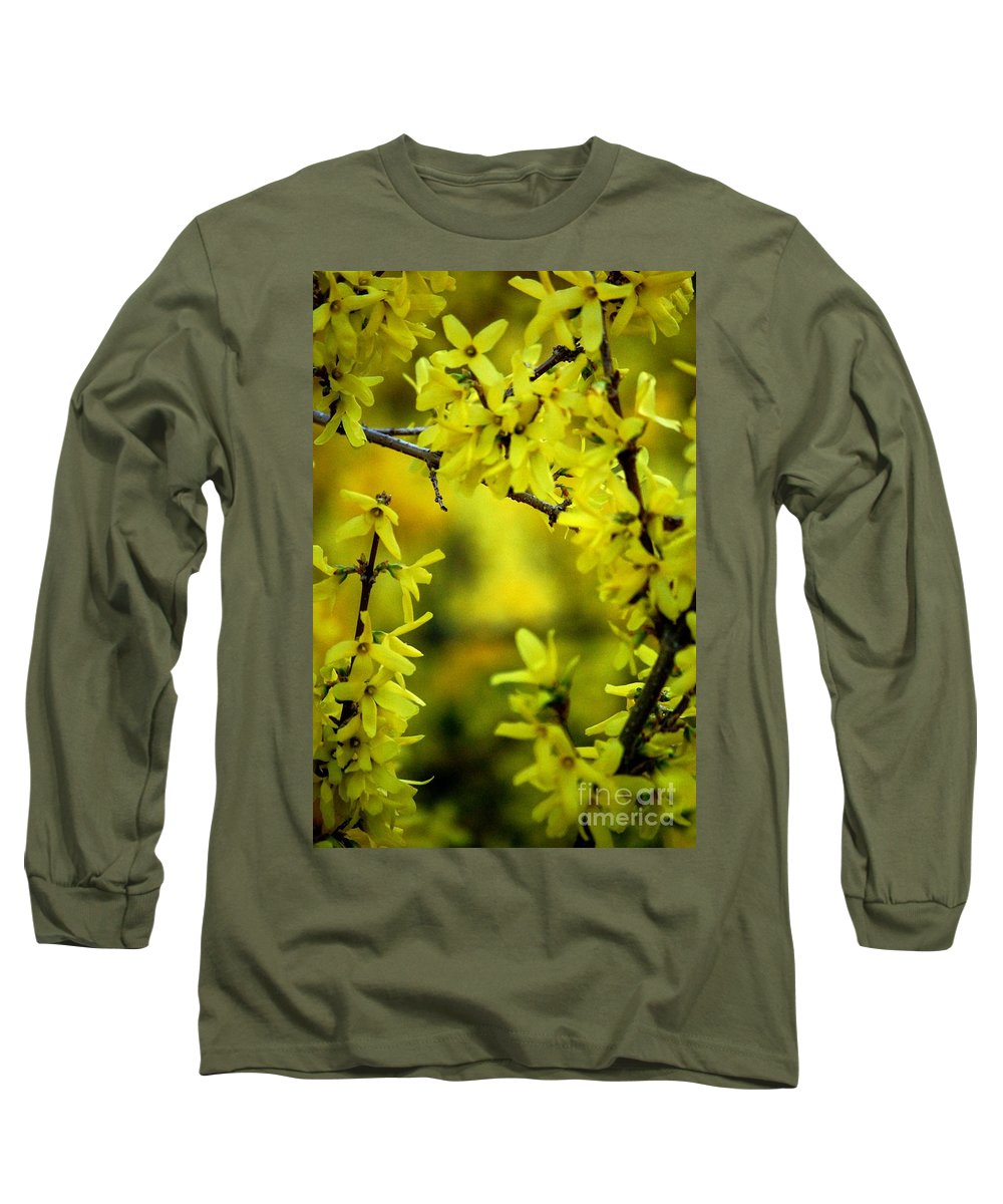 Spring Long Sleeve T-Shirt featuring the photograph Forsythia At The Hacienda by David Lane