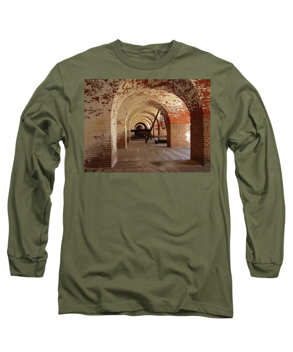 Fort Pulaski Long Sleeve T-Shirt featuring the photograph Fort Pulaski II by Flavia Westerwelle