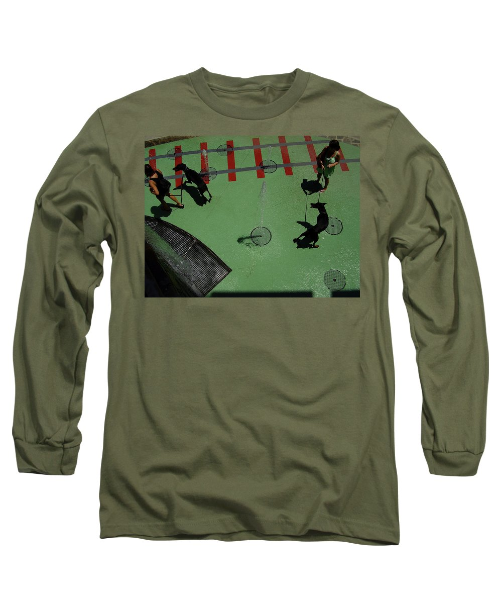 Fountain Long Sleeve T-Shirt featuring the photograph Fountain by Flavia Westerwelle