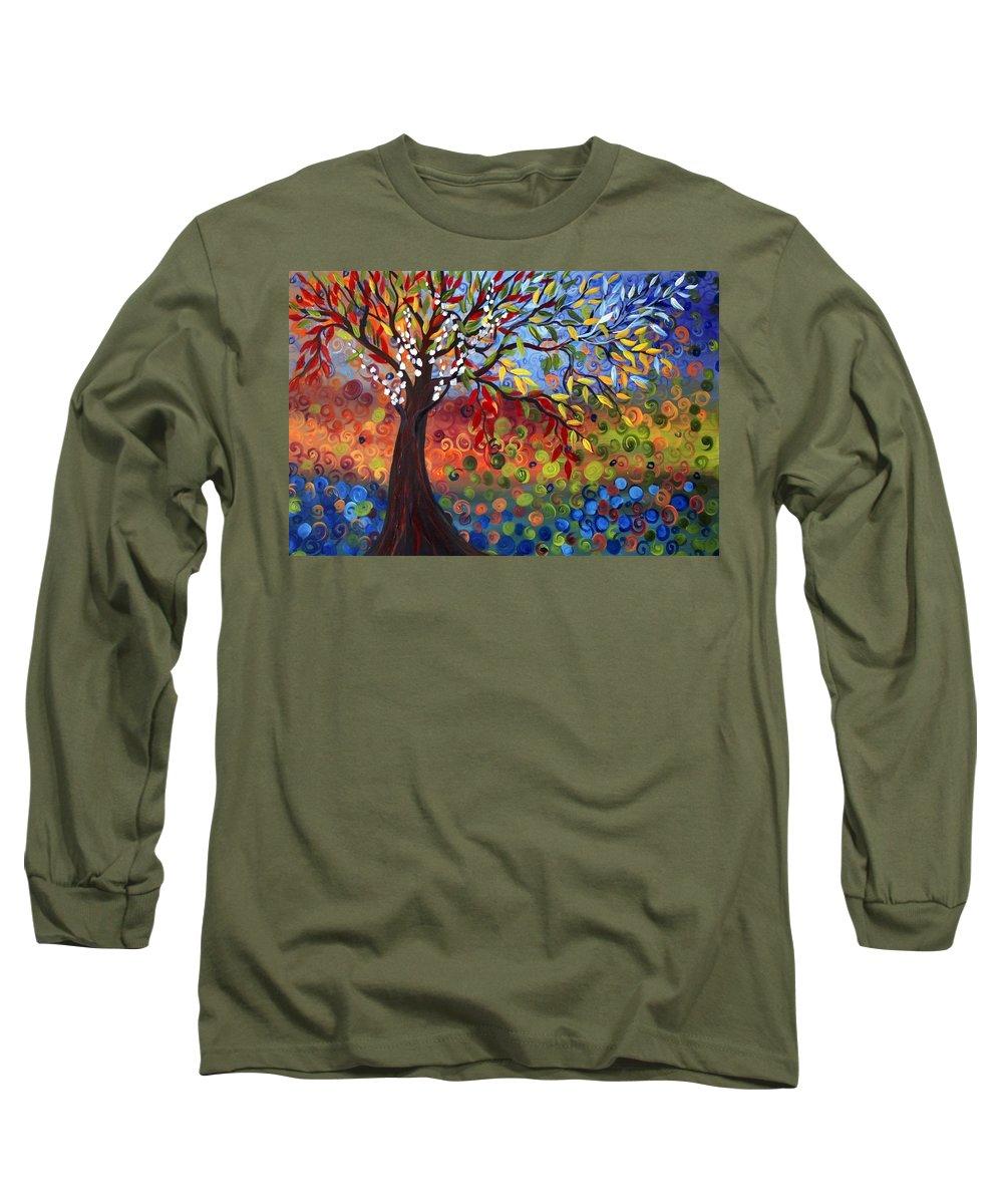 Art Long Sleeve T-Shirt featuring the painting Four Seasons by Luiza Vizoli