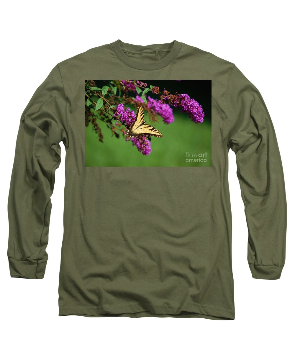 Butterfly Long Sleeve T-Shirt featuring the photograph Freedom by Debbi Granruth