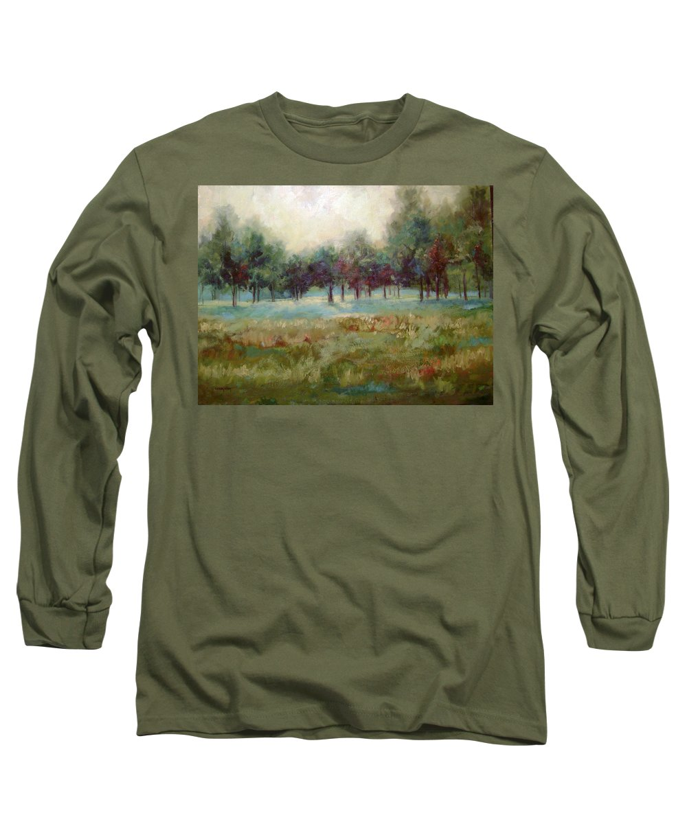Country Scenes Long Sleeve T-Shirt featuring the painting From The Other Side by Ginger Concepcion