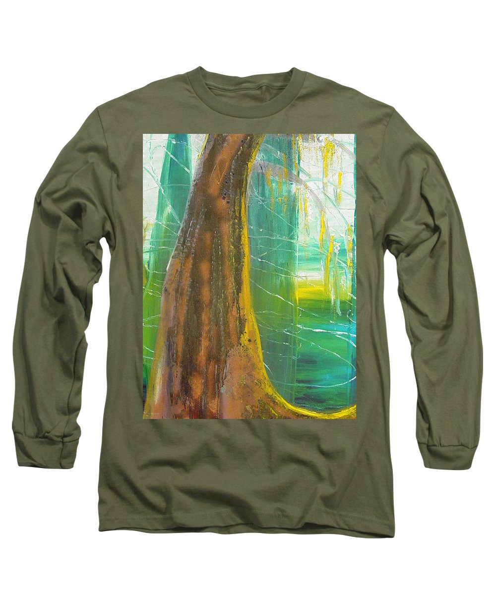 Landscape Long Sleeve T-Shirt featuring the painting Georgia Morning by Peggy Blood