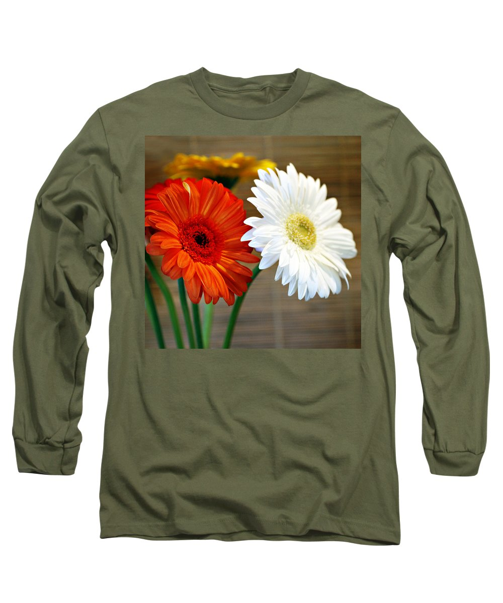 Flower Long Sleeve T-Shirt featuring the photograph Gerbers by Marilyn Hunt