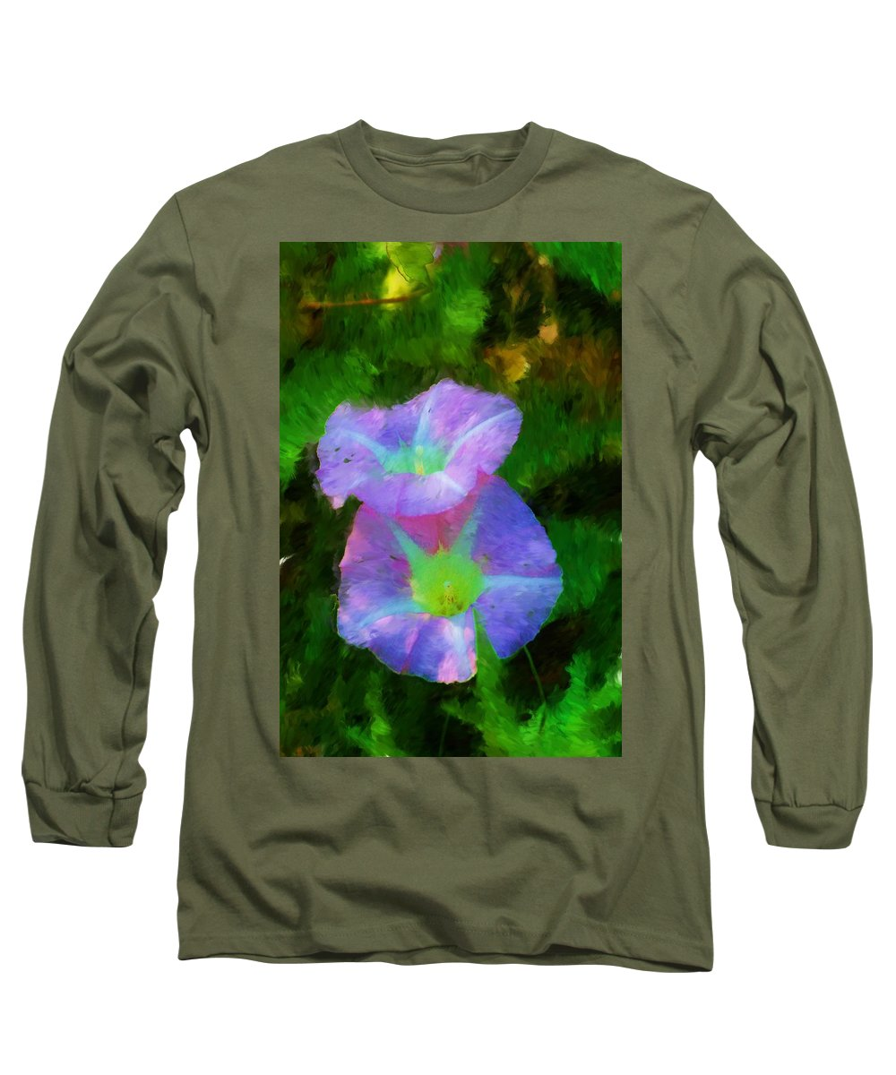 Floral Long Sleeve T-Shirt featuring the painting Gloria In The Shade by David Lane