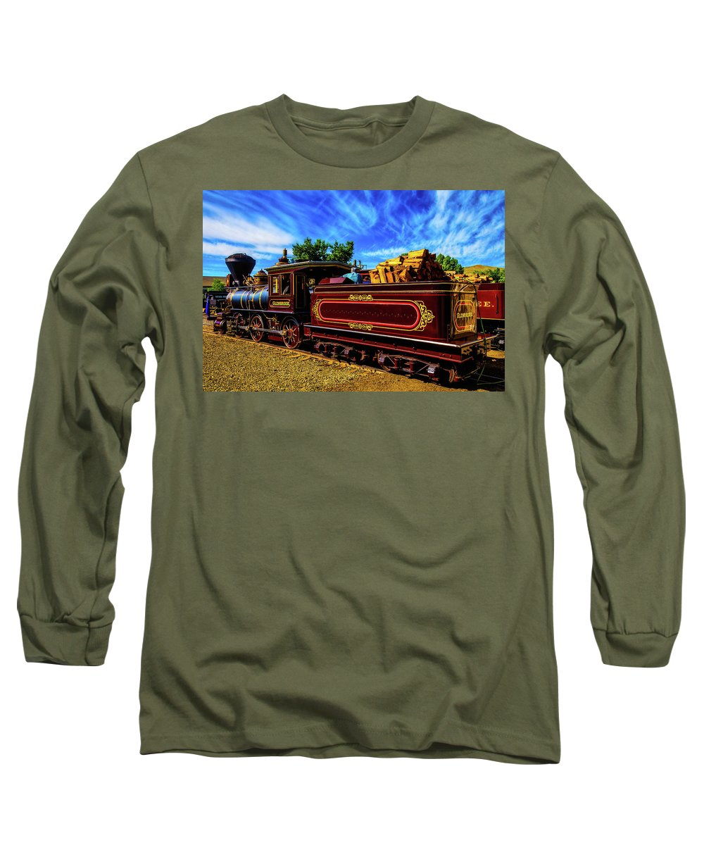 Virgina & Truckee Long Sleeve T-Shirt featuring the photograph Gorgeous Glenbrook Gingerbread Train by Garry Gay