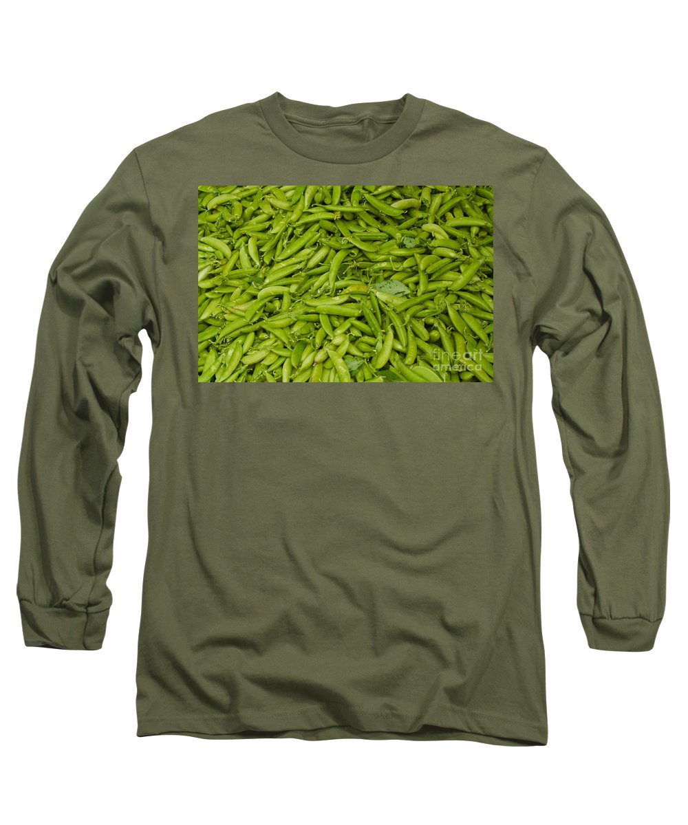 Green Long Sleeve T-Shirt featuring the photograph Green Beans by Thomas Marchessault