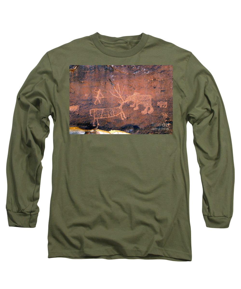 Grizzly Bear Long Sleeve T-Shirt featuring the photograph Grizzly Bear Attack by David Lee Thompson