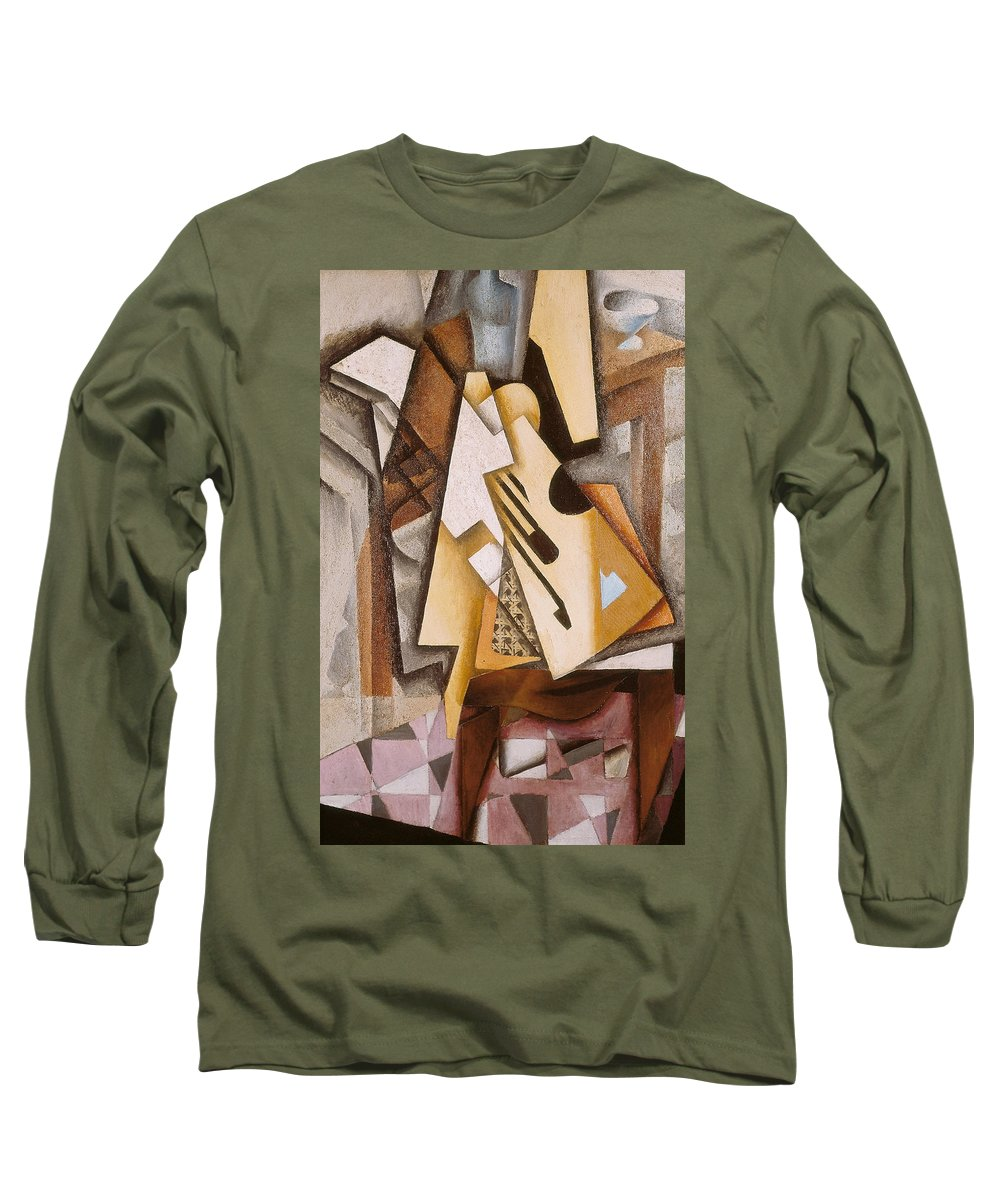 Abstract Long Sleeve T-Shirt featuring the painting Guitar On A Chair by Juan Gris