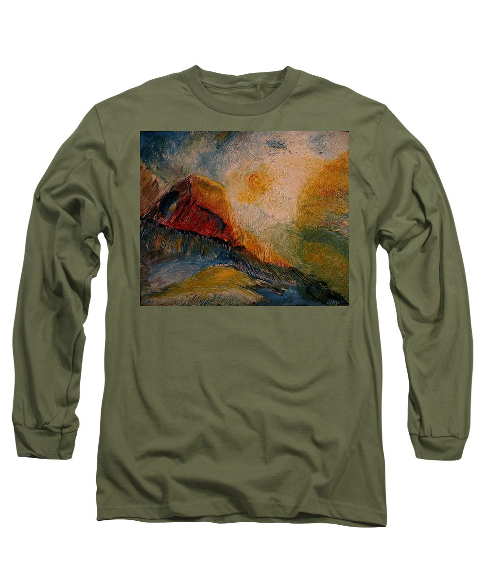 Rede Long Sleeve T-Shirt featuring the painting Harvast by Jack Diamond