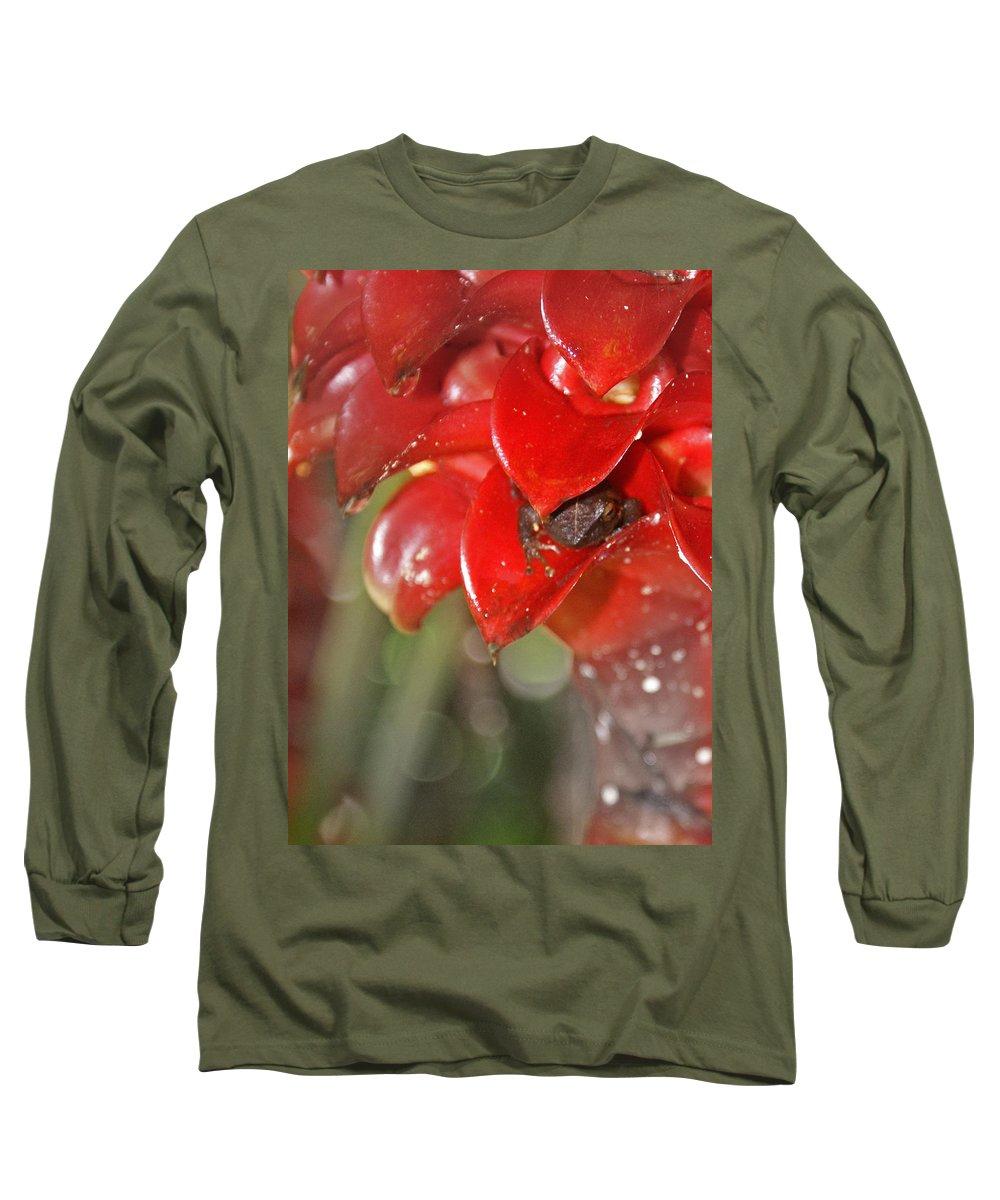 Frog Long Sleeve T-Shirt featuring the digital art Hawaiian Frog by Heather Coen