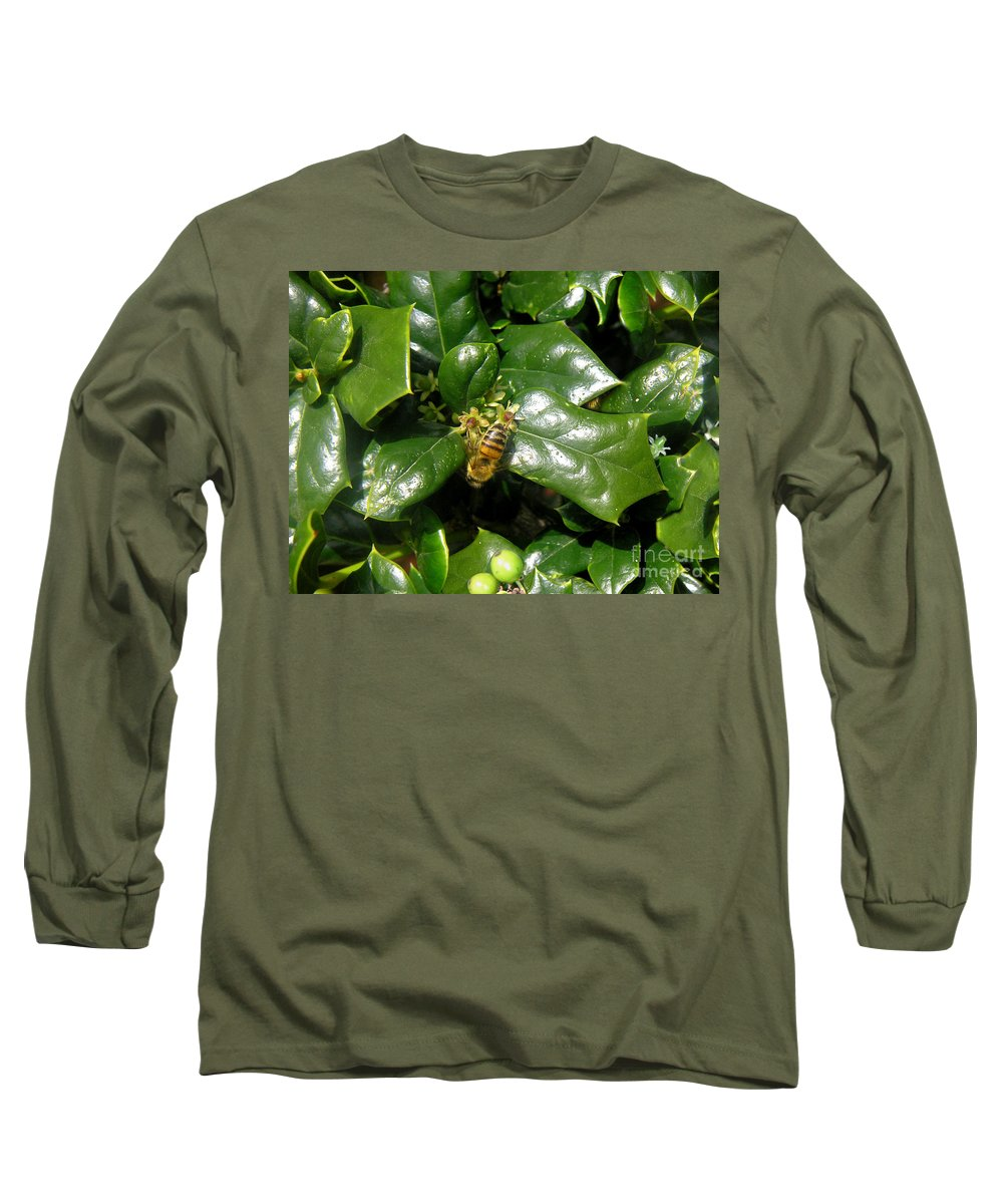 Nature Long Sleeve T-Shirt featuring the photograph Head Over Heels In The Holly by Lucyna A M Green