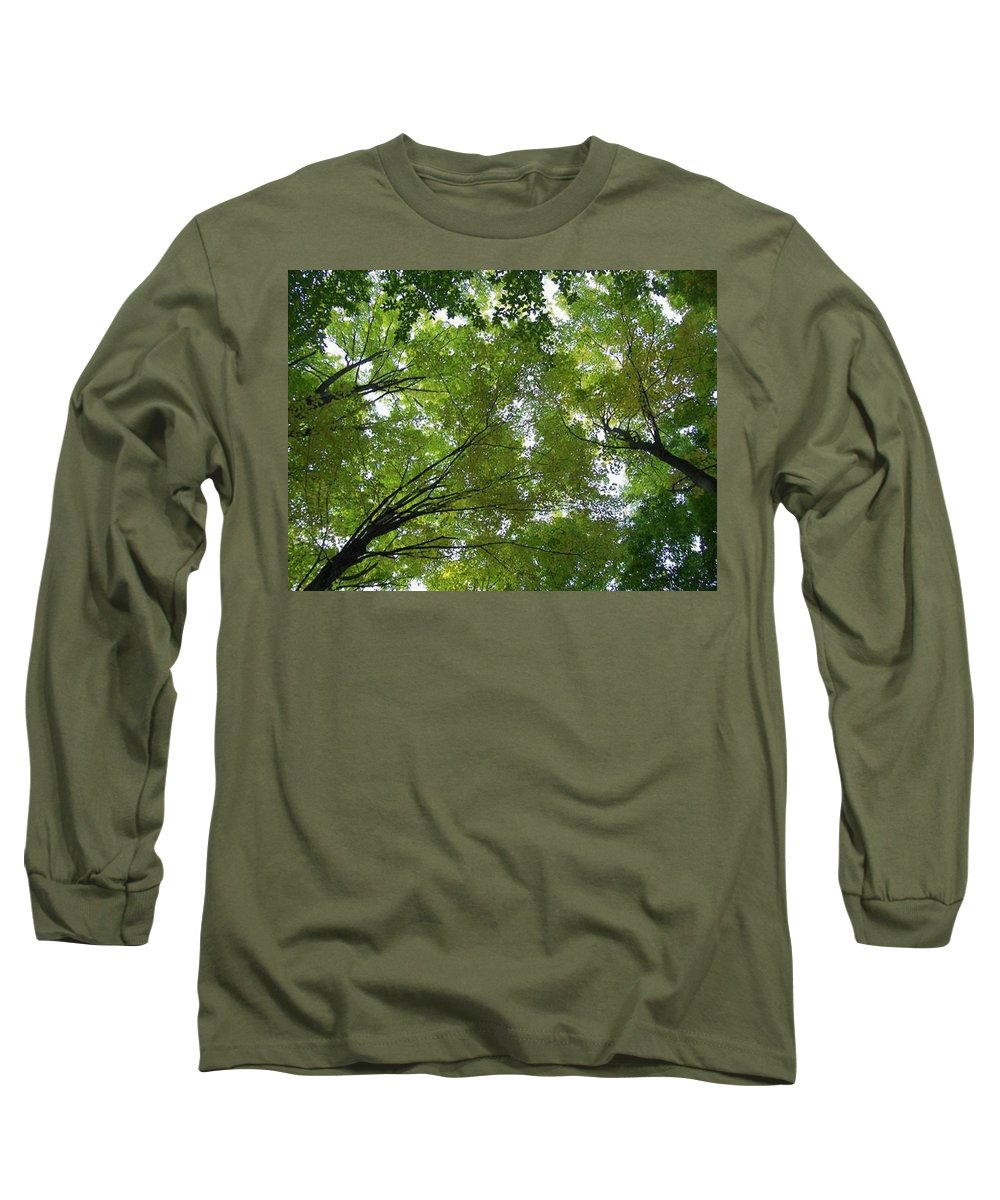 Photography Long Sleeve T-Shirt featuring the photograph Into The Trees by Michael TMAD Finney