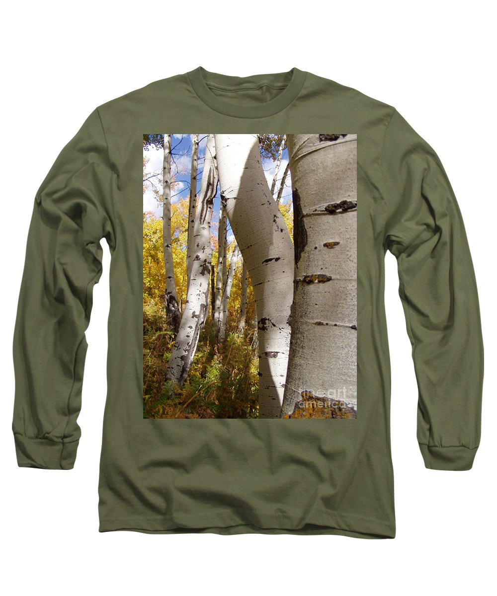 Trees Long Sleeve T-Shirt featuring the photograph Jackson Hole Wyoming by Amanda Barcon